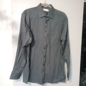 Michael Kors Gray Button Down Shirt Sz 17